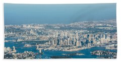 Beach Towel featuring the photograph Sydney From The Air by Parker Cunningham