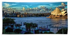 Sydney Harbor And Opera House Beach Towel by Diana Mary Sharpton