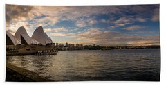 Beach Sheet featuring the photograph Sydney Harbor by Andrew Matwijec