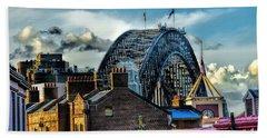 Sydney Harbor Bridge Beach Sheet by Diana Mary Sharpton