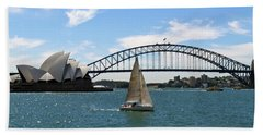 Sydney Harbour No. 1 Beach Sheet by Sandy Taylor