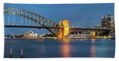 Sydney Harbour At Dusk Beach Towel