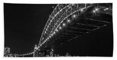 Sydney Harbour Bridge At Night Beach Sheet