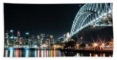 Sydney Harbour Sparkle Beach Towel