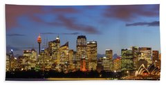 Sydney Harbour Sunset Beach Towel