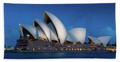 Sydney Opera House After Dark Beach Sheet