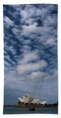 Sydney Opera House And Cloudscape Beach Towel