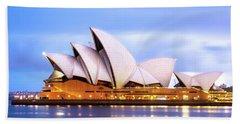 Sydney Opera House At Dawn Beach Towel