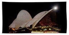 Beach Sheet featuring the photograph Sydney Opera House Close View 2 By Kaye Menner by Kaye Menner
