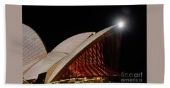 Beach Towel featuring the photograph Sydney Opera House Close View By Kaye Menner by Kaye Menner