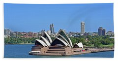 Sydney Opera House No. 17-1 Beach Towel by Sandy Taylor