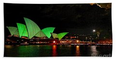 Sydney Opera House Vivid Festival Australia Beach Towel