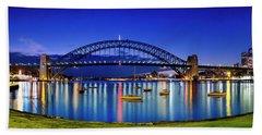 Sydney Reflections Beach Towel