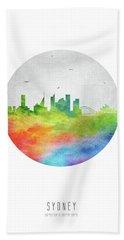Sydney Skyline Ausy20 Beach Sheet by Aged Pixel