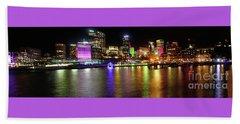 Sydney Skyline By Kaye Menner Beach Sheet by Kaye Menner