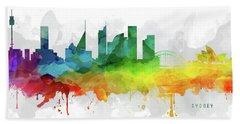 Sydney Skyline Mmr-ausy05 Beach Sheet by Aged Pixel