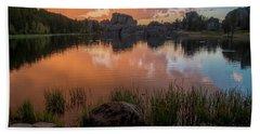 Beach Sheet featuring the photograph Sylvan Lake by Gary Lengyel