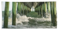 Symbolic Surf City Pier Beach Towel