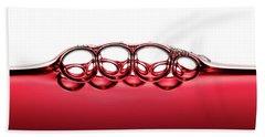 Symmetrical Red Wine Bubbles Beach Towel