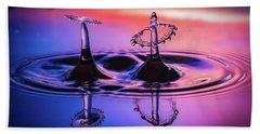 Synchronized Liquid Art Beach Sheet