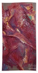 Beach Towel featuring the painting Syncopation 4 by Mini Arora