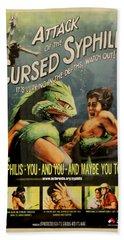 Syphilis Poster Beach Towel