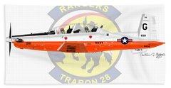 T-6b Texan II Vt28 Beach Towel by Arthur Eggers
