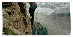T-902901 Fred Beckey Climbing Beach Sheet