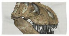 T. Rex Skull 2 Beach Towel
