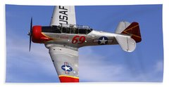 T6 At Reno Air Races Beach Towel