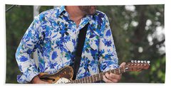 Tab Benoit And 1972 Fender Telecaster Beach Towel
