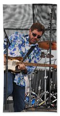 Tab Benoit Plays His 1972 Fender Telecaster Thinline Guitar Beach Towel