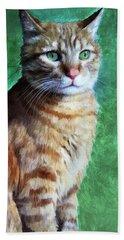 Tabby Cat Beach Towel