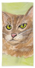 Tabby With Attitude Beach Towel by Terry Taylor