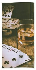 Table Games And The Wild West Saloon  Beach Towel