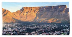 Beach Sheet featuring the photograph Table Mountain by Alexey Stiop