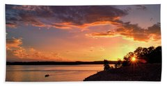 Beach Towel featuring the photograph Table Rock Sunset by Cricket Hackmann