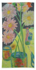 Table Scape Beach Towel