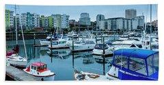Tacoma Waterfront Marina,washington Beach Towel