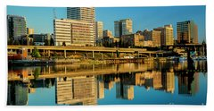 Tacoma's Waterfront,washington Beach Towel