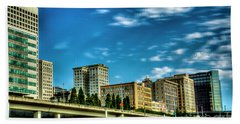 Tacoma,washington.hdr Beach Towel
