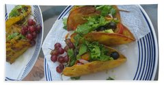 Beach Towel featuring the photograph Tacos Almost Mirrored by Marie Neder