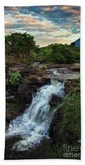 Tad Lo Waterfall, Bolaven Plateau, Champasak Province, Laos Beach Towel