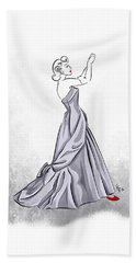 Beach Towel featuring the digital art Taffeta Gown by Cindy Garber Iverson