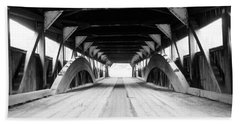 Taftsville Covered Bridge Beach Towel