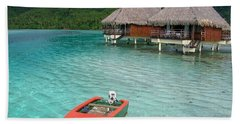 Beach Towel featuring the photograph Tahitian Boat by Jacqueline Faust
