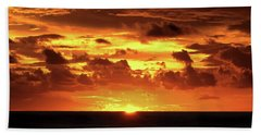 Tahitian Sunset Beach Towel by Sue Melvin