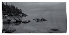 Tahoe In Black And White Beach Sheet