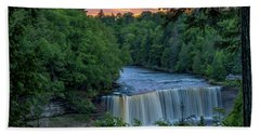 Tahquamenon Falls Sunset. Beach Towel