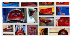 Tail Light Collage Number 1 Beach Sheet by Mike Martin